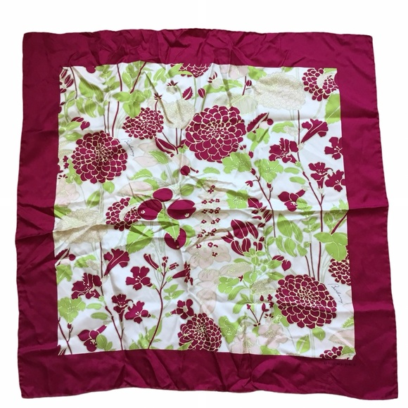 Burberry Floral Silk Scarf